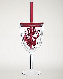 Blood Wine Cup With Straw 13 oz.