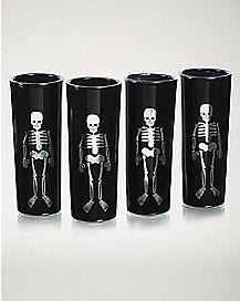 Black Shot Glasses 4 Pack