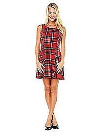 Plaid School Girl Dress
