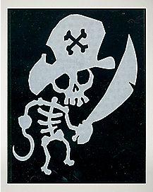 Pirate Skeleton Car Decal