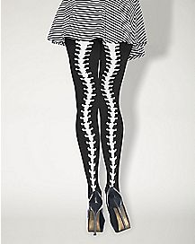 Spine Backseam Opaque Tights