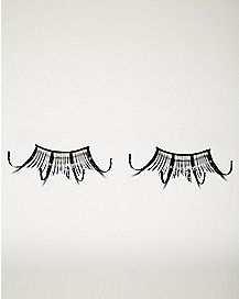 Black Glam Glitter False Eyelashes