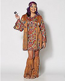 Adult Peace and Love Hippie Plus Size Costume