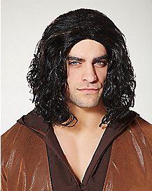 Black Medieval Wig