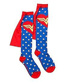 Caped Stars Wonder Woman Socks - DC Comics