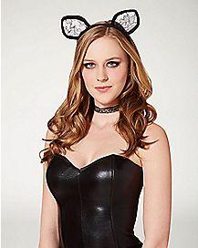 Black Lace Cat Ears