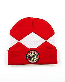 Red Power Ranger Beanie Hat - Power Rangers