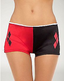 Harley Quinn Boyshorts with Lace Up Sides - Batman
