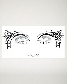 Spiderweb Face Tatoo Decal