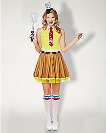 Adult Spongebob Dress Costume - Spongebob Squarepants