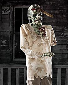 6 Ft Ax Zombie Animatronics - Decorations