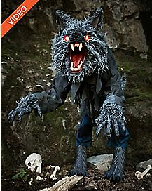 6 Ft Howling Werewolf Animatronics - Decorations