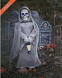 2.5 Ft Grim Graven Angel Animatronics - Decorations