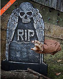 19 Inch Reaching Arm Tombstone Animatronics - Decorations