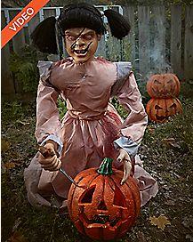 2 Ft Lunging Pumpkin Carver Animatronics – Decorations