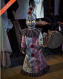 2.5 Ft Roaming Antique Clown Animatronics - Decorations