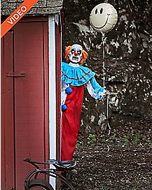 5 Ft Evil Clown Animatronics - Decorations