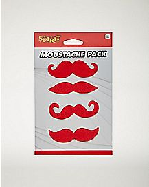 4pk Red Mustaches