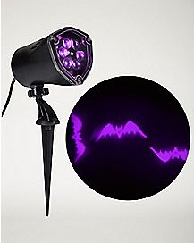 Whirl-A-Motion LED Purple Bats Projection Spot Light
