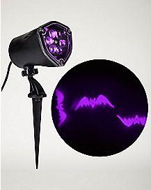 Whirl-A-Motion LED Purple Bats Projection Spot Light