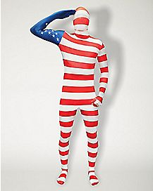 USA Flag Super Skin Costume
