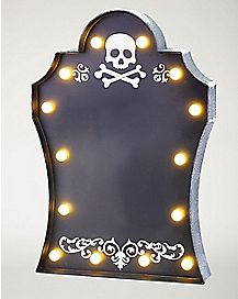 LED Light Skull Chalk Sign