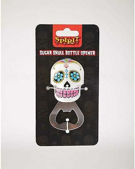 White Sugar Skull Bottle Opener - Spencer's