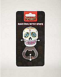 White Sugar Skull Bottle Opener