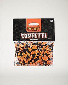 Orange and Black Halloween Confetti