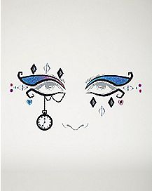 Face Decal Tattoo - Mad Hatter