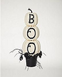 2 Ft Tiered Boo Pumpkin Stand - Decorations