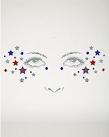 Americana Stars Face Decal