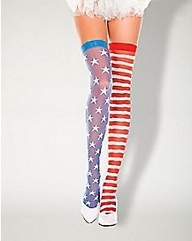 Americana Thigh High Stockings