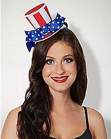America Mini Top Hat Fascinator