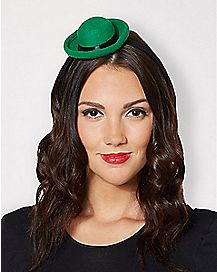 Green Bowler Mini Hat Fascinator