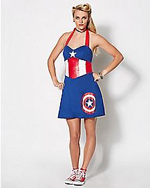 Adult HER Universe Captain America Dress - Marvel