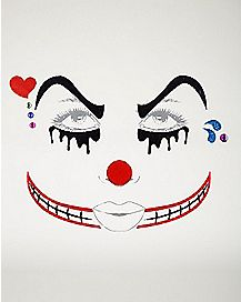 Twisted Circus Clown Face Decal