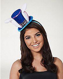 Plaid Rabbit Mini Hat Fascinator