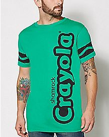 Adult Shamrock Green Crayon T Shirt - Crayola