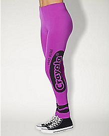 Vivid Violet Purple Leggings - Crayola