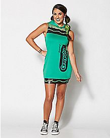 Adult Shamrock Green Crayon Dress Costume - Crayola