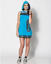 Adult Cerulean Blue Crayon Dress Costume - Crayola