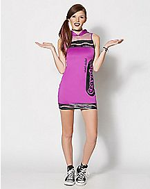 Adult Vivid Violet Crayon Dress Costume - Crayola