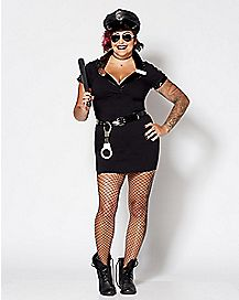 Adult Dirty Cop Plus Size Costume