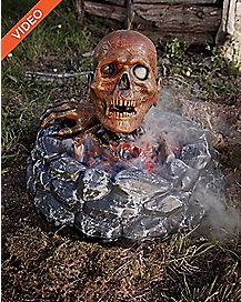 15 Inch Campfire Zombie Animatronics - Decorations