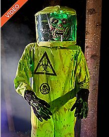 5 Ft Hazmat Zombie Animatronics – Decorations