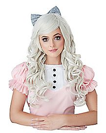 Ash Blonde Curls Doll Wig