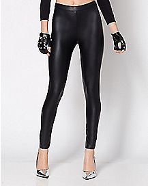 '50s Faux Leather Leggings