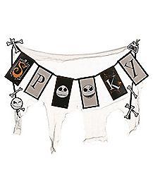 Spooky Jack Skellington Banner - The Nightmare Before Christmas