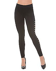 Black Side Slit Leggings
